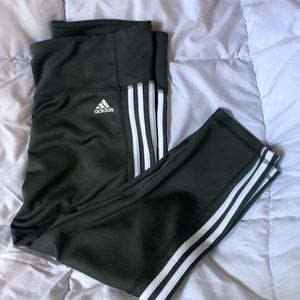 Army Green Adidas climalite workout Capri